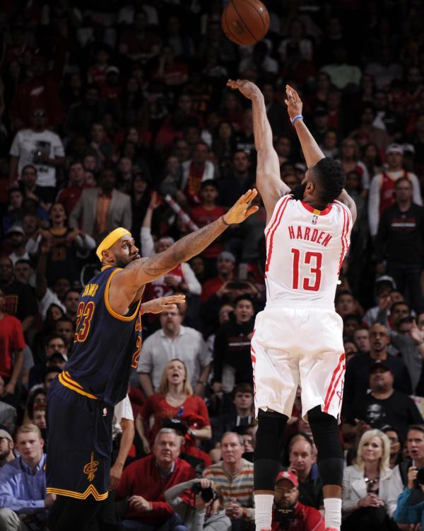 Rockets Vs Warriors James Harden: Houston Rocket's Guard James Harden Clawed, Kicked To Lead